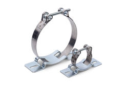 Hinged bolt clamps